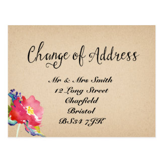 Change of address Elegant  Floral  Postcard
