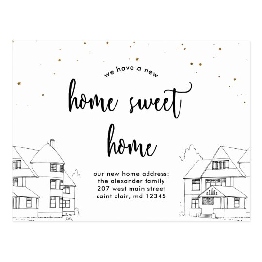 Change of Address Home Sweet Home with Stars