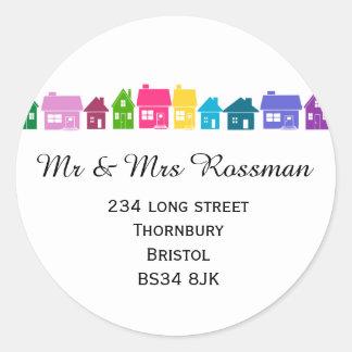 Change of address label sticker