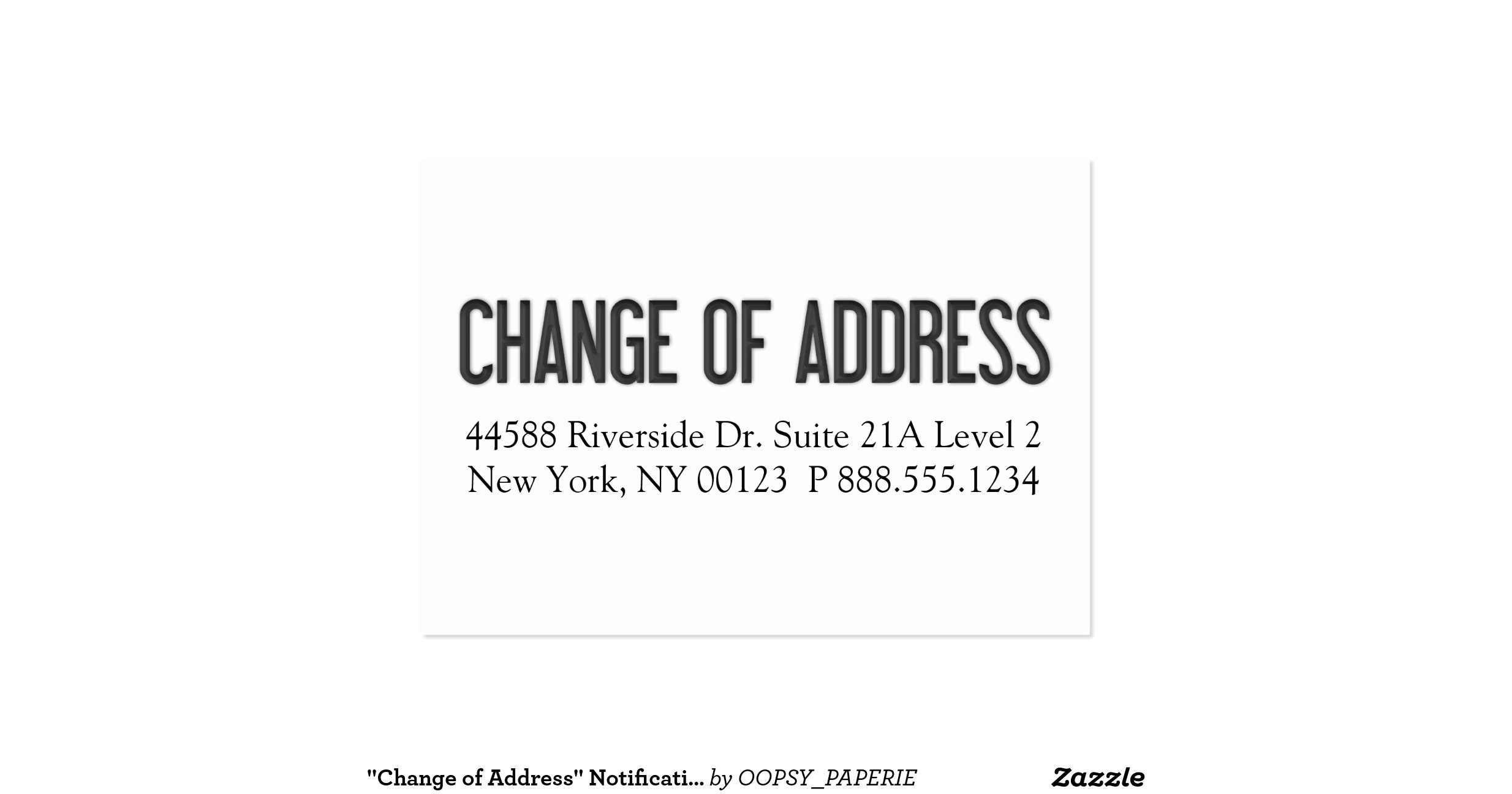Quotchange of addressquot notification label pack of chubby for Change of address note cards