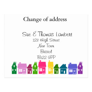 Custom change of address postcards zazzle change of address postcard pronofoot35fo Choice Image