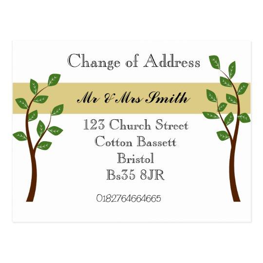 change of address postcard