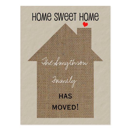 Change of Address Postcard -Burlap House