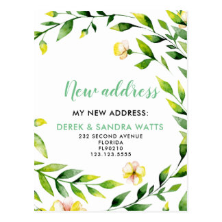 Change of address postcard we have moved botanical