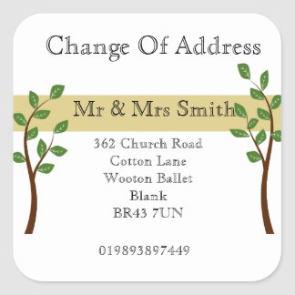 Change of Address Square Sticker