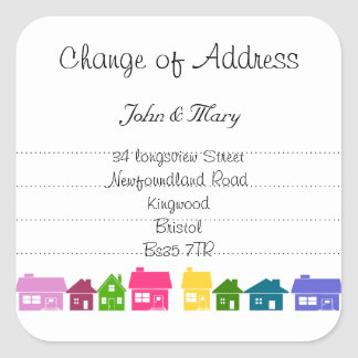 Change of Address sticker