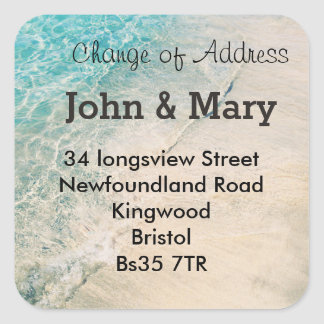 Change of Address sticker  beach theme