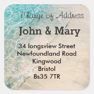 Change of Address sticker  beach theme