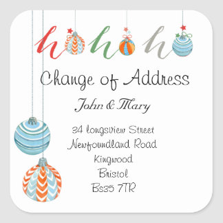 Change of Address sticker Christmas