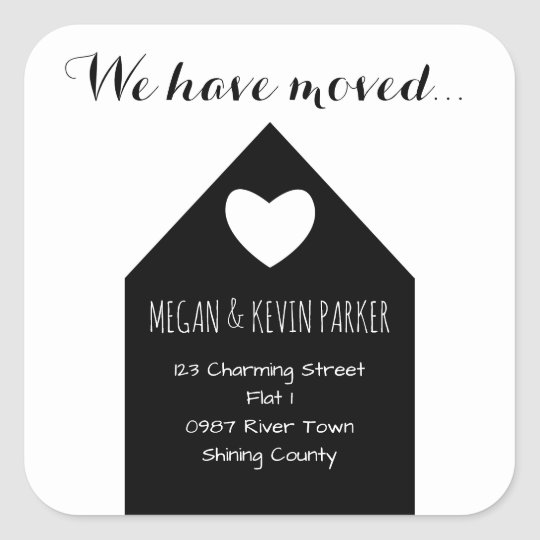 Change of Address Sticker | modern trendy house