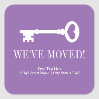 Change of address vintage key moving home stickers