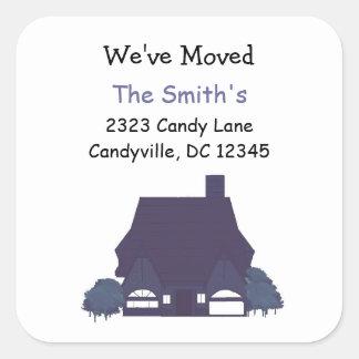 Change of Address We ve Moved Square Sticker
