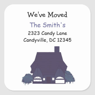 Change of Address, We've Moved Square Sticker