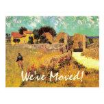 Change of Address with Vintage Van Gogh Art