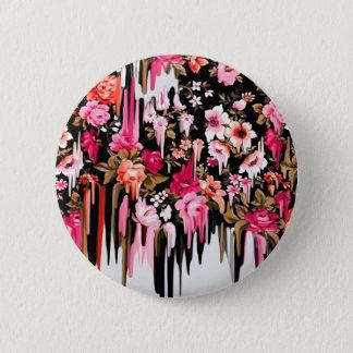 Change of Heart, melting floral pattern 6 Cm Round Badge