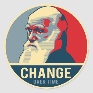 Change Over Time Classic Round Sticker