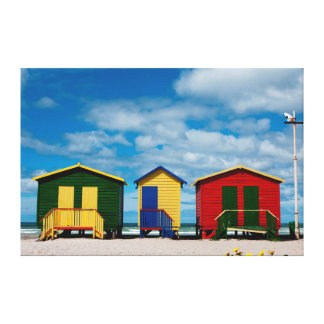 Change Rooms. Muizenberg Beach, Cape Town Canvas Print