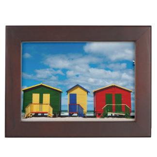 Change Rooms. Muizenberg Beach, Cape Town Keepsake Box