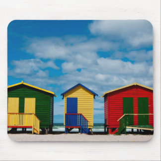 Change Rooms. Muizenberg Beach, Cape Town Mouse Pad