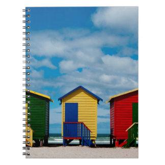Change Rooms. Muizenberg Beach, Cape Town Spiral Notebook