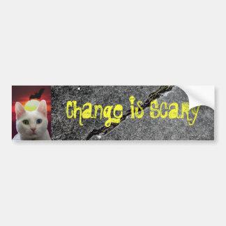 Change Scary bumper sticker