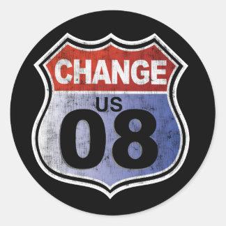 Change! Classic Round Sticker