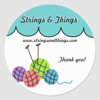 Change the color - knitting yarn balls Sticker