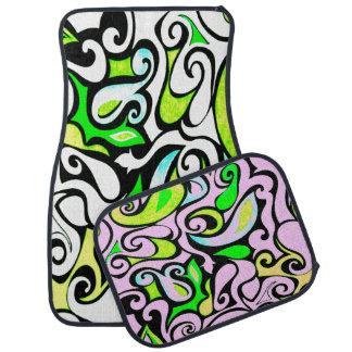 Change the Color Wacky Retro Swirl Floor Mat