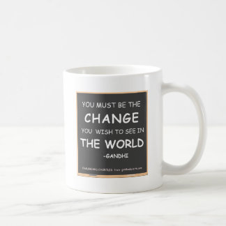 CHANGE THE WORLD-GANDHI COFFEE MUG
