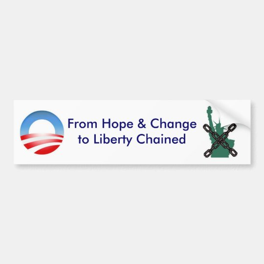 Change to Chained Bumper Sticker