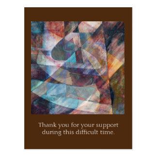 """Change-up"" Digital Art Thanks for Your Support Postcard"