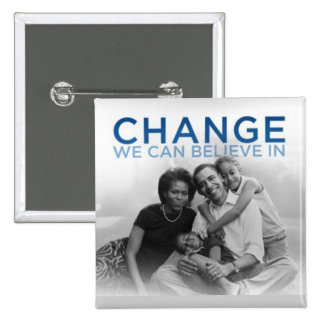CHANGE WE CAN BELIEVE IN 15 CM SQUARE BADGE
