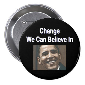 """Change We Can Believe In"" Black Button"