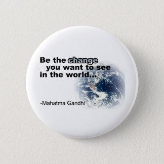 change white 6 cm round badge