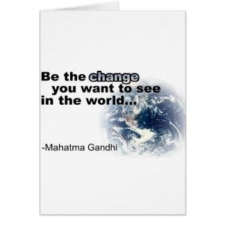change white greeting card