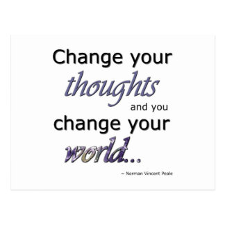 Change Your Thoughts Postcard