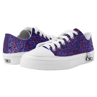 CHANGEABLE BACKGROUND-BLUE CRACKLE LOW TOPS