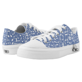 CHANGEABLE BACKGROUND-MUSIC NOTES-1 LOW TOPS