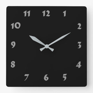 Changeable Numbered Black Clock