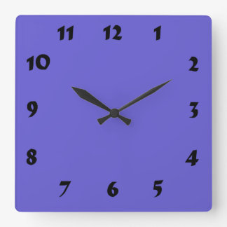 Changeable Numbered Cornflower Blue Clock
