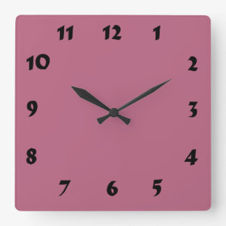 Changeable Numbered Mauve Pink Clock