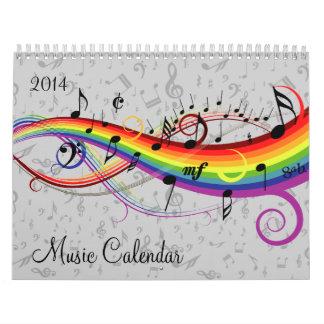 Changeable Year Music Calendar