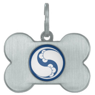 Changed shape two clove swirls pet name tag