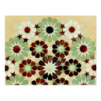 'Changing Seasons' Islamic geometry postcard
