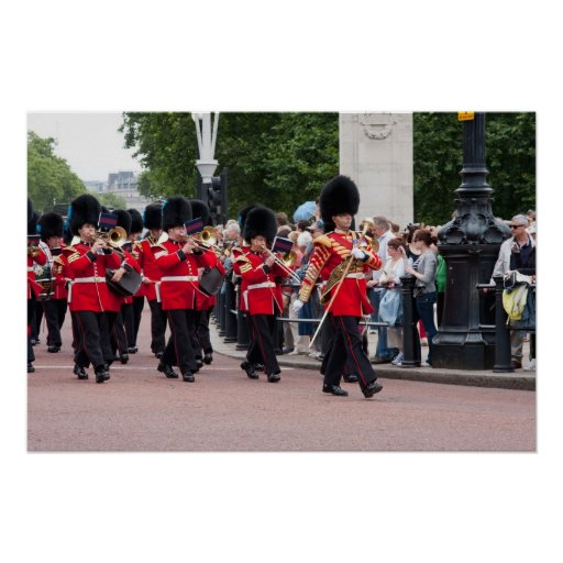 Changing the Guard at Buckingham Palace Poster