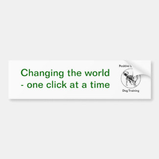 Changing the world bumper sticker