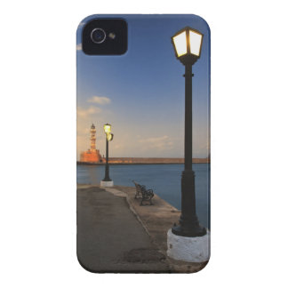 Chania Harbor and Venetian lighthouse at sunset iPhone 4 Case-Mate Case