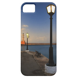 Chania Harbor and Venetian lighthouse at sunset iPhone 5 Cover