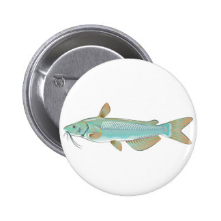 Channel catfish game fish farm fish seafood market 6 cm round badge