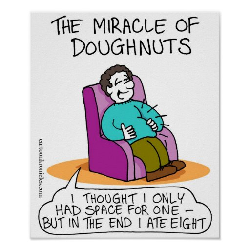Channukah Poster - The Miracle of Doughnuts